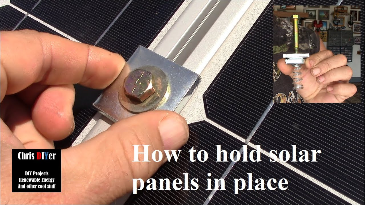 How To Mount Solar Panels With Superstrut Flat Washers Spring Nuts 3 8 Quot Grade 8 Bolts 3 Quot Youtube