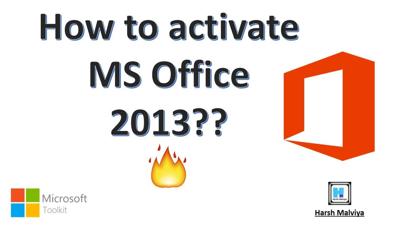 how to activate office 2013 using microsoft toolkit
