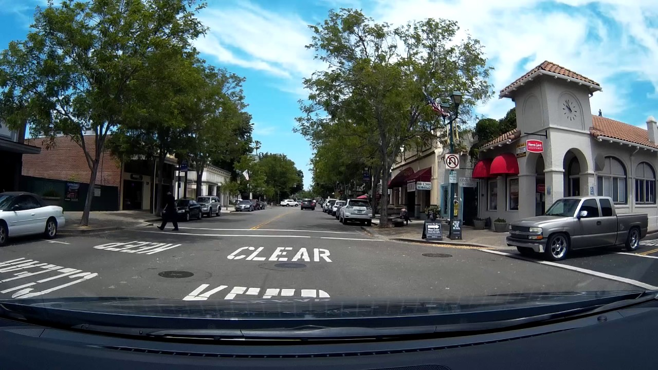 Driving Around A Nice Street Main Downtown Pleasanton Ca