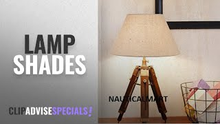 Top 10 Lamp Shades [2018]: NAUTICALMART DESIGNER WOOD AND BEIGE COLOR TRIPOD TABLE LAMP