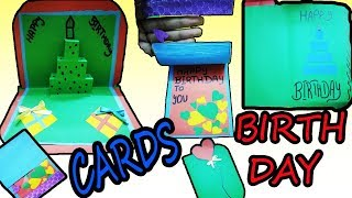 3 DIY Pop Up Cards For Birthday