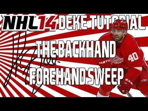 NHL 14: Advanced Deke Tutorial   Backhand Forehand Sweep ( The Zetterberg )
