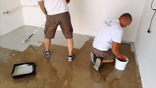Epoxidová podlaha do garáže  Aquapox DECO - videonávod