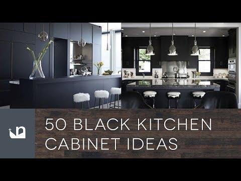 50 Black Kitchen Cabinet Ideas