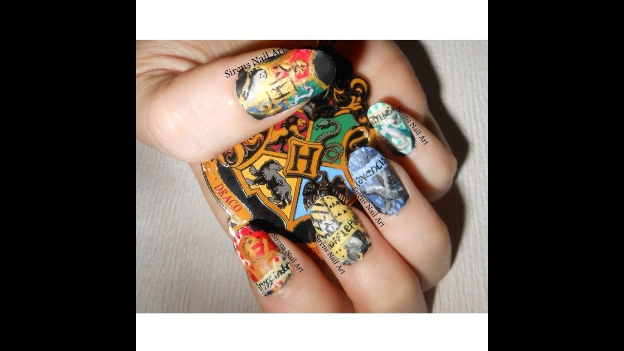 Hand Painted Acrylic Nails