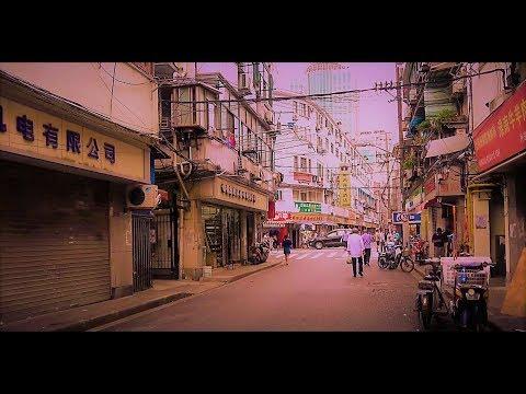 China Travel Vlog - Shanghai上海 - 4k Local Streets next to Nanjing Road 2017