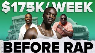 Akon was making $175k/week BEFORE Rap 💰 | #shorts
