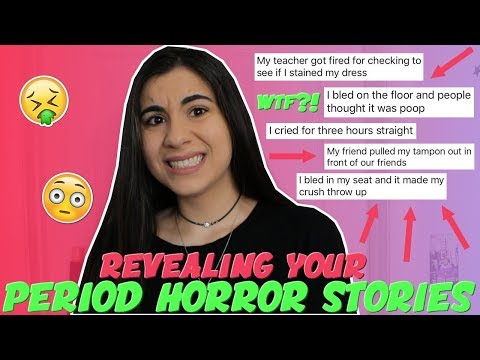 Reading Your WORST Period Horror Stories | Just Sharon
