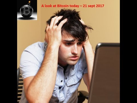 Bitcoin: What to do when the price falls... 21 September 2017