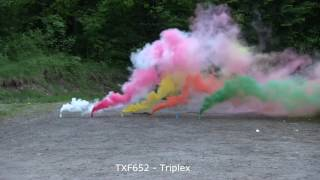 świeca Dymna Triplex TXF652(магазин пиротехники http://salut-express.by, наша группа в ВК - https://vk.com/fireworks_shop , Купить фейерверк в Минске, салюты..., 2016-09-19T20:27:05.000Z)