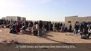 ICRC's response to Syrians' needs in Jordan in 2016