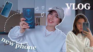 vlog купила себе iPhone 12 Pro Max работа шоппинг и распаковка