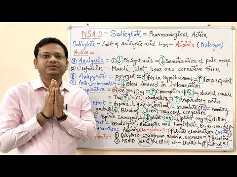 NSAID - Non Steroidal Anti Inflammatory Drugs (Part-04)= Salicylate- Pharmacological Action (HINDI)