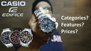 Casio Edifice Watches - Features, Categories, Prices