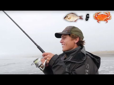 Surf Perch Fishing & Crabbing On The Washington Coast. Ft. @Mav