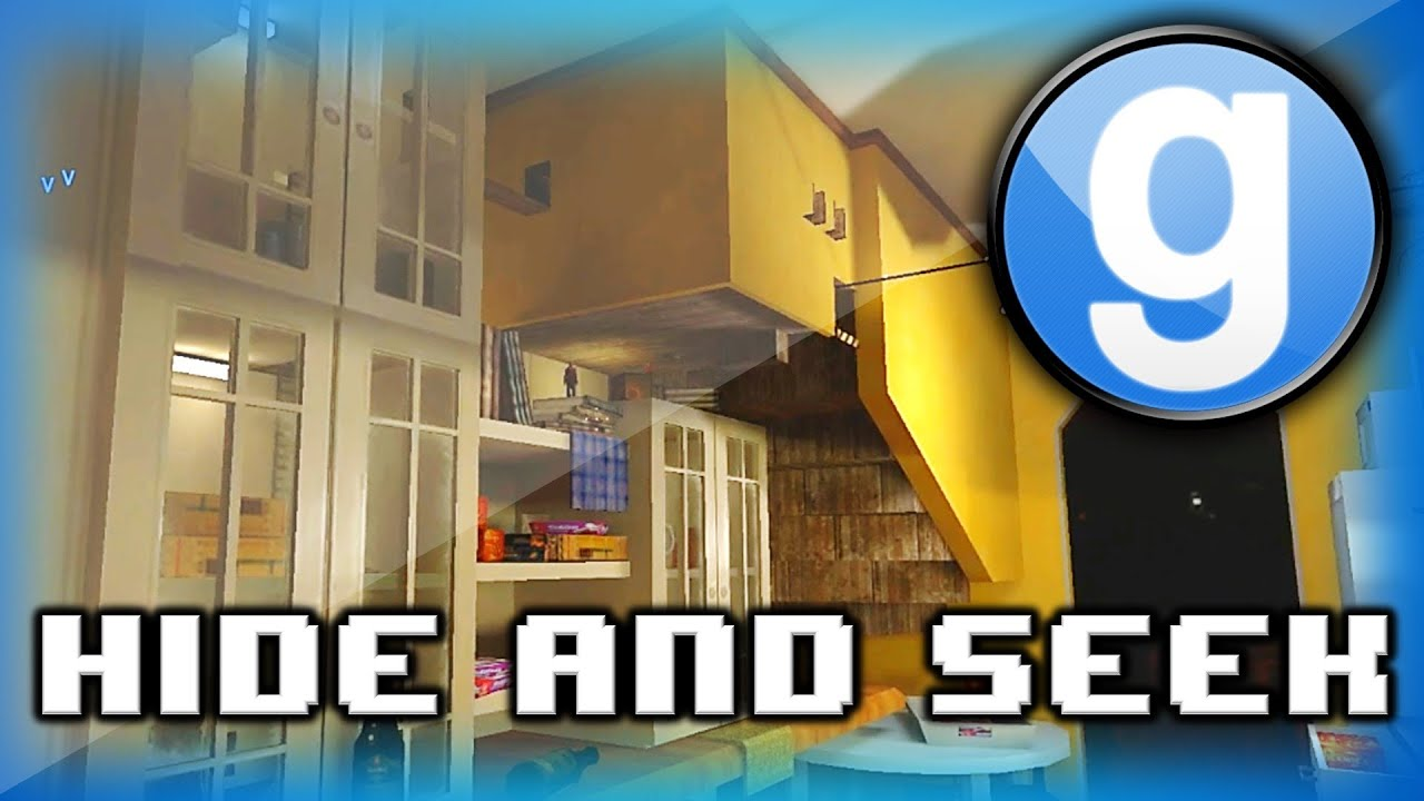 Garry\'s Mod Hide and Seek Funny Moments - Dedotated WAM, Giant Kitchen Map,  and Tricky Spots!