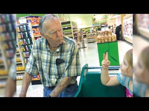 4-jähriges Mädchen ruft - Hallo, alter Mensch - Seine Reaktion begeisterte die Mutter!