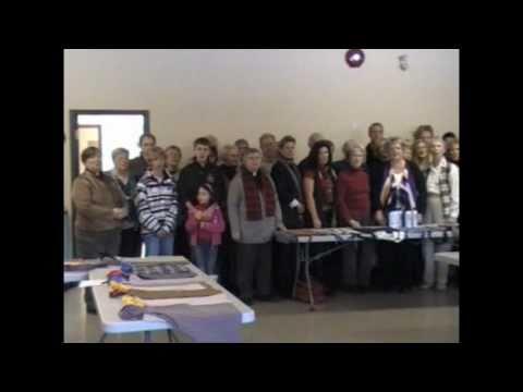 St. Andrew's Anglican Church, Okanagan Mission, BC singing Silent Night