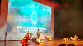 Ancient history and mythology of Cambodia being presented by Cambodian Apsara dancers