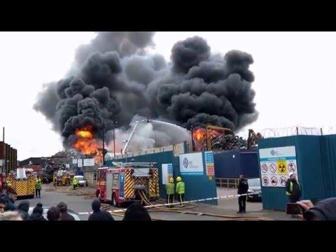 Birmingham Scrap Yard Fire Near Adderley Park Station Today