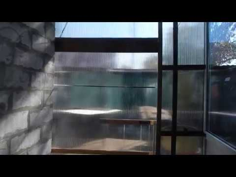 Как из поликарбоната сделать раздвижную дверь