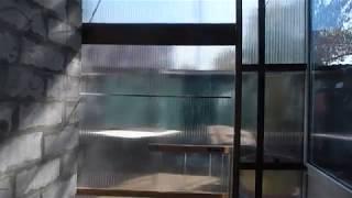 как сделать раздвижную дверь из поликарбоната