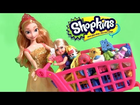shopkins shopping cart new disney frozen princess anna with