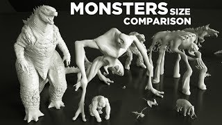 (Movie) MONSTERS Size COMPARISON 👹 3D Animation