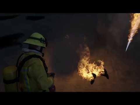 GTA V Myth - Do Fire Extinguishers Stop Burning Peds?