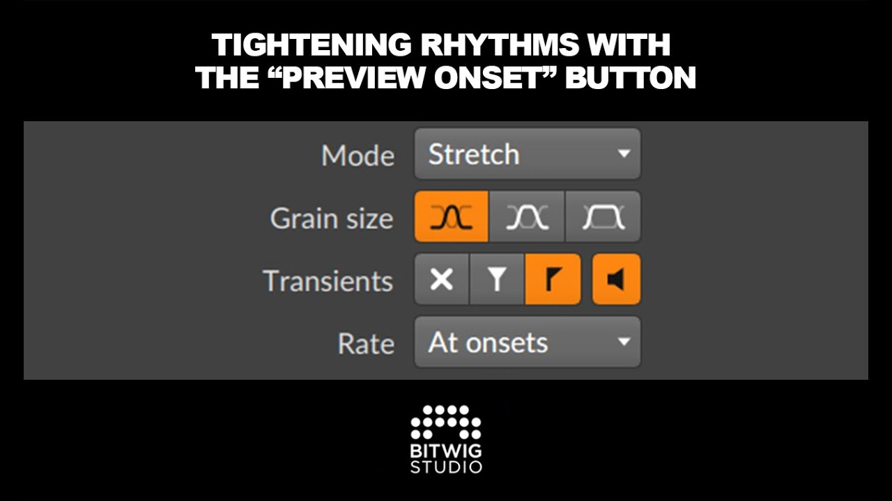 Tightening Rhythms With Bitwig 'Preview Onsets' Button