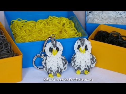 chouette en lastiques rainbow loom youtube. Black Bedroom Furniture Sets. Home Design Ideas