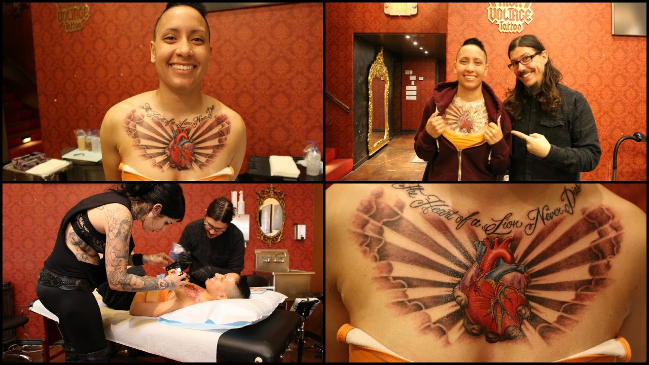 High Voltage Tattoo Ashley39s First Tattoo Youtube