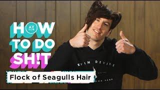 Run, run so far away with this Flock Of Seagulls-inspired 'do