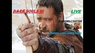 Jogo Dark Souls 3 personagens de filmes Robin Hood vs O campeão Gundyr