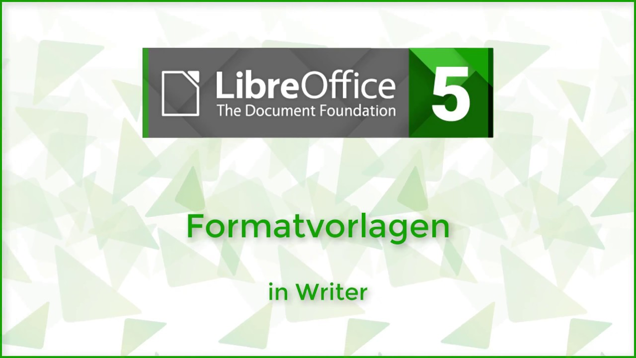 Formatvorlagen In Writer Libreoffice 5 3 Deutsch