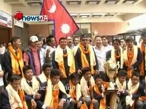 ACC U-16 NEPALI CRICKET TEAM - POWER NEWS; Presenter: Prem Baniya.