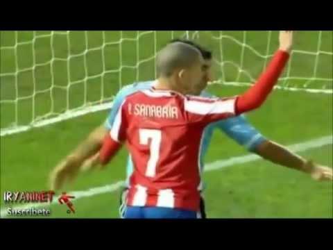 Primeros goles de Toni Sanabria con la Albirroja