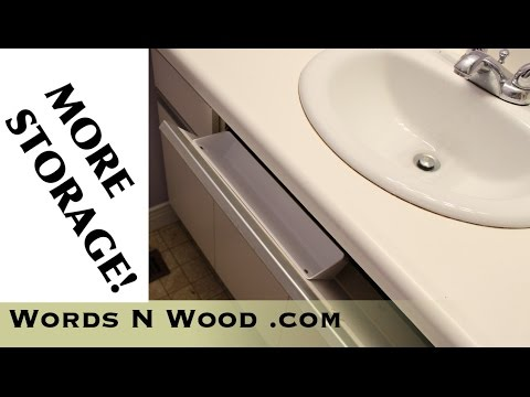 installing a tip out storage tray in a bathroom vanity wnw 87