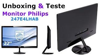 Monitor Philips 247E4LHAB Unboxing