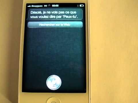 apple iphone 4s test de la reconnaissance vocale siri youtube. Black Bedroom Furniture Sets. Home Design Ideas