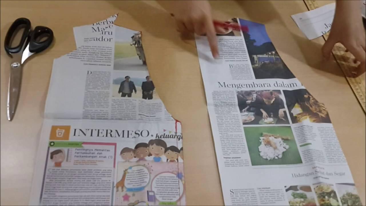 Belajar Cara Membuat Pola Baju Dan Pola Jahitan Blus VIDEO 2 Menggunting Pola Baju