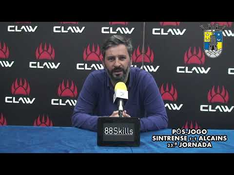 Sintrense-Alcains, 1-1 – Conferência de imprensa de Tiago Zorro, Treinador Sintrense