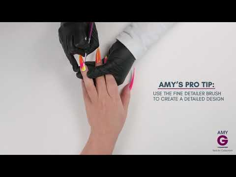 How to get the Fluorescent Powder Fantasy Nails look - Amy G Nail Art Collection