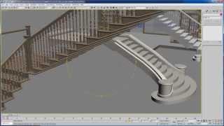 07 - Уроки 3d max для дизайнеров - Моделирование лестницы
