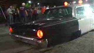 American Graffiti Re-Creation - Cop Car Destroyed