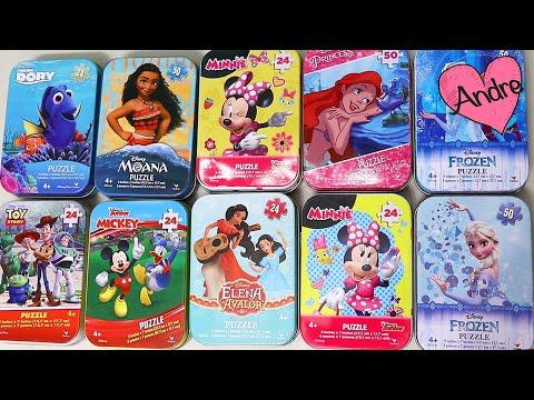 Abriendo premios Rompecabezas y Album de Frozen!!! Muñecas y juguetes con Andre para niñas y niños
