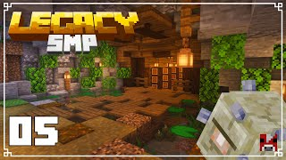 Legacy SMP - 05 - FINISHING off the STORAGE ROOM | Survival Minecraft 1.15