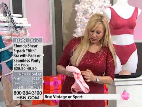 3010919b446 Rhonda Shear 3pack Ahh Seamless Panty - YouTube