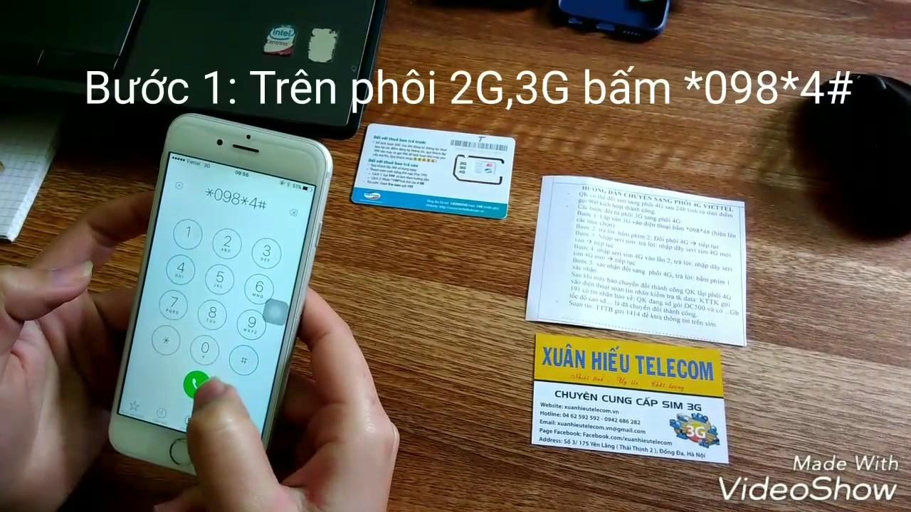 Hướng dẫn tự đổi sim 4G viettel từ phôi 2G,3G(update 05022017)