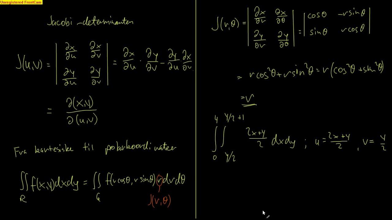 Kalkulus 15.3 - Variabelskifte med multiple integraler